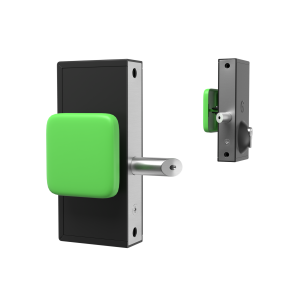 mechanical code lock with green panic exit push pad